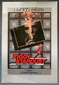 ZIGGY STARDUST & THE SPIDERS FROM MARS (1973) - DAVID BOWIE - British One Sheet - D.A. Pennebaker'