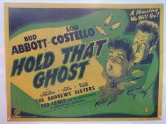 HOLD THAT GHOST: ABBOTT & COSTELLO (1941) - Britis