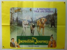 """THE INCREDIBLE JOURNEY (1963) - FIRST RELEASE - Brian Bysouth artwork - UK Quad Film Poster - 30"""""""