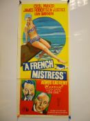 "A FRENCH MISTRESS (1960) Australian Daybill Movie Poster (13"" x 27"") - Folded, Near Fine"