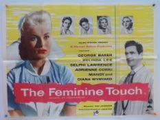 THE FEMININE TOUCH (1956) - British UK Quad - Ealing Studios romantic drama centering around