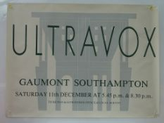 ULTRAVOX - UK Quad music poster - Advertising the
