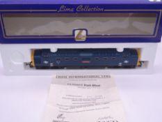OO GAUGE - A Lima Class 55 Deltic diesel locomotive, 55017 The Durham Light Infantry, in BR blue