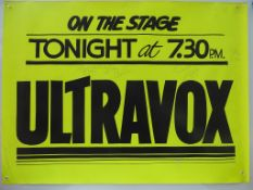 ULTRAVOX - UK Quad music poster - A hand painted d