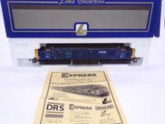 OO GAUGE - A Lima Class 37 diesel locomotive, 37610, in DRS blue livery, #161 of 550 (Rail