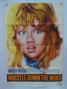 """WHISTLE DOWN THE WIND (1961) - UK One Sheet (27"""" x 41"""" - 68.5 x 104 cm) - Very Fine plus - Folded ("""