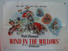 "WIND IN THE WILLOWS (1949) Re-Release UK Quad. (30"" x 40"" - 76 x 101.5 cm) - Very Fine plus - Folded"