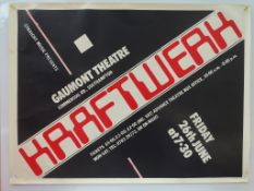 "KRAFTWERK - UK Quad music poster - From the ""Compu"