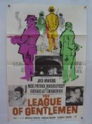 "THE LEAGUE OF GENTLEMEN (1960) - British One Sheet film poster - 27"" x 40"" (68.5 x 101.5 cm) -"