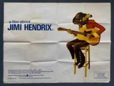 JIMI HENDRIX : A FILM ABOUT (1973) - British UK Quad film poster - great art of the rock & roll