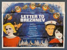 "LETTER TO BREZHNEV (1985) British UK Quad film poster - JAMIE REID artwork - 30"" x 40"" (76 x 101.5"