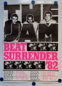 THE JAM (1982) - BEAT SURRENDER tour poster - THE LAST JAM tour in 1982 - PAUL WELLER - RICK BUCKLER