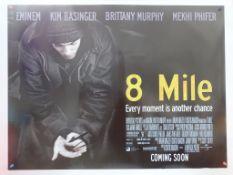 """8 MILE LOT (2002) - (9 in Lot) - EMINIEM - British UK Quad film poster - 30"""" x 40"""" (76 x 101.5 cm) -"""