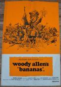 """BANANAS (1971) - (WOODY ALLEN) - UK Double Crown Film Poster (20"""" x 30"""" – 50.8 x 76.2 cm) - Fine"""