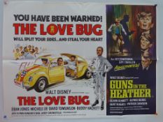 "THE LOVE BUG / GUNS IN THE HEATHER (1968) - UK Quad Double Bill film poster - 30"" x 40"" (76 x 101."