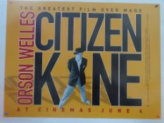 "CITIZEN KANE (1999 Release) - British UK Quad film poster for ""The Greatest Film Ever Made"" -"