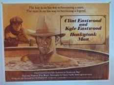 HONKYTONK MAN (1982) - British UK Quad film poster