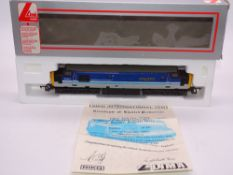 OO GAUGE - A Lima Class 37 diesel locomotive, 37414 Cathays C&W Works, in Regional Railways
