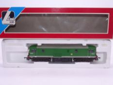 OO GAUGE - A Lima Class 73 electro-diesel locomotive, renumbered E6004, in BR green livery. VG in