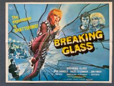 BREAKING GLASS (1980) - British UK Quad film poster - Tom Chantrell artwork of singer HAZEL O'CONNOR
