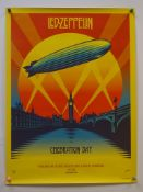 LED ZEPPELIN: CELEBRATION DAY (2012) - Atlantic Records promotional poster for the LED ZEPPELIN:
