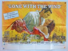 "GONE WITH THE WIND (1970's Release) - UK Quad Film Poster - Howard Terpning artwork - (30"" x 40"" -"