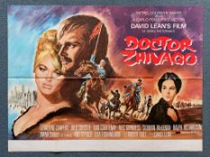 DOCTOR ZHIVAGO (1971 Release) - British UK Quad film poster - DAVID LEAN - JULIE CHRISTIE - Howard