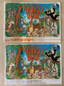 JUNGLE BOOK (1975 Release) LOT - (2 in Lot) - British campaign brochure & complementing synopsis for