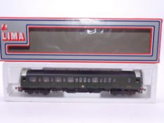 OO GAUGE - A Lima Class 121 diesel railcar, W55029, in BR green livery. VG in incorrect G box