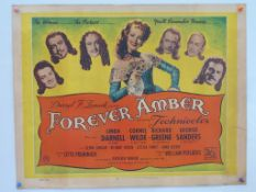 FOREVER AMBER (1947) - UK/British Half Sheet - 22""