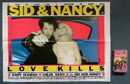 SID & NANCY (1986) LOT - (2 in Lot) - To include British UK Quad film poster - Gary Oldman & Chloe