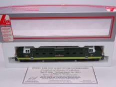 OO GAUGE - A Lima Class 55 Deltic diesel locomotive, D9013 The Black Watch, in BR two tone green