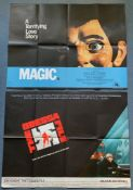 COLLECTION OF UK QUAD FILM POSTERS (5 in Lot) to include MAGIC (1978) / ODESSA FILE (1974) / DAY