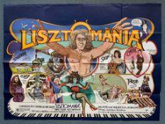LISZTOMANIA(1975) British UK Quad film poster - KEN RUSSELL - ROGER DALTREY stars as classical