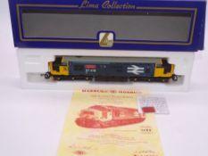 OO GAUGE - A Lima Class 37 diesel locomotive, 37418 An Comunn Gaidhealach, in Large Logo blue livery