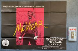 McVICAR (1980) LOT - (10 in Lot) - To include British UK Quad film poster - ROGER DALTREY stars as