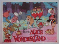 ALICE IN WONDERLAND (1978 Release) - UK Quad Film Poster - Classic WALT DISNEY animated