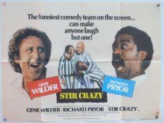 "STIR CRAZY (1980) - British UK Quad - 30"" x 40"" (76 x 101.5 cm) - Folded - Very Good / Near Fine"