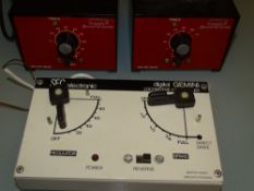 HO/OO GAUGE - A pair of Gaugemaster model SF controllers together with an SEC GEMINI. VG N.B. To