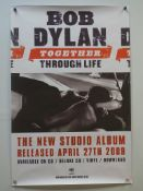 MUSIC POSTER COLLECTION LOT (7 in Lot) - To include BOB DYLAN - 2 x Columbia Records / Sony Music