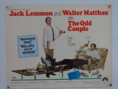 THE ODD COUPLE (1968) - US Half Sheet - George Aki