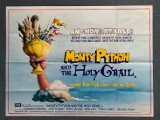 MONTY PYTHON & THE HOLY GRAIL (1960) - British UK Quad Film Poster - Typical 'Pythonesque artwork by