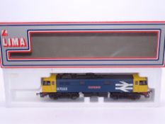 OO GAUGE - A Lima Class 87 electric locomotive, 87022 Cock O'The North, in Large Logo blue livery.