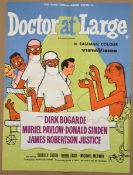 """DOCTOR AT LARGE (1957) - MOVIE LIFT BILL (22"""" x16.5"""" - 56cm x 42cm) - contained within ad sales"""