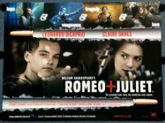 """ROMEO + JULIET (1996) - UK Quad Film Poster - BAZ LUHRMANN - LEONARDI Di CAPRIO - 30"""" x 40"""" (76 x"""