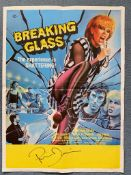 BREAKING GLASS (1980) - SIGNED BY PHIL DANIELS - British Flyer film poster - Tom Chantrell artwork