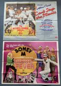 DISCO LOT (1970/80's) - (2 in Lot) - British UK Quad film posters - VILLAGE PEOPLE - BONEY M - Disco