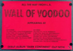 WALL OF VOODOO (1981) - British promotional poster for the group's 1981 UK tour to coincide with the