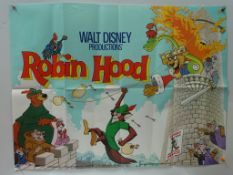 ROBIN HOOD (1973) - UK Quad Film Poster - FIRST RELEASE - Classic WALT DISNEY animated adventure