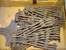 O GAUGE - A large tray of Hornby O Gauge three rai